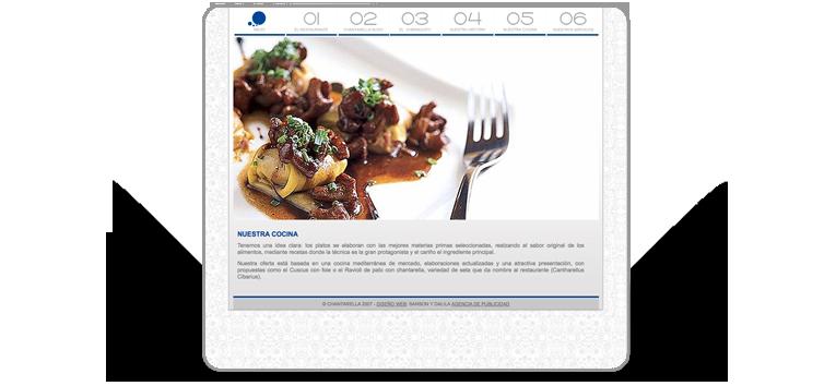 Diseño y desarrollo de página web para restaurante