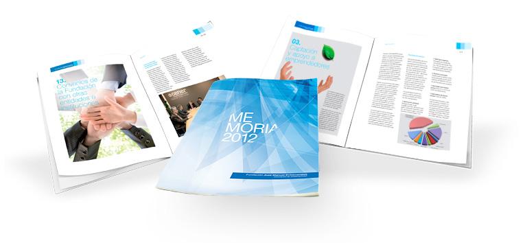 Diseño y maquetación de memoria anual