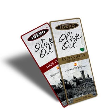 Diseño de línea de packs de aceite de oliva Ibero