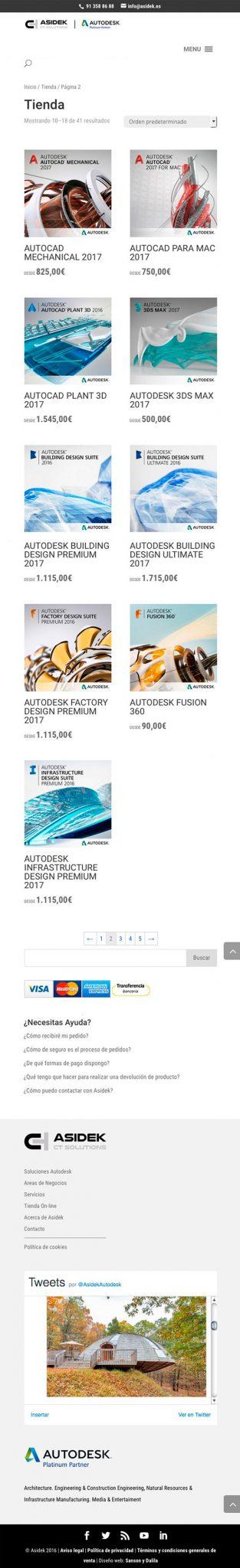 Comercio electrónico en Wordpress, diseño responsive