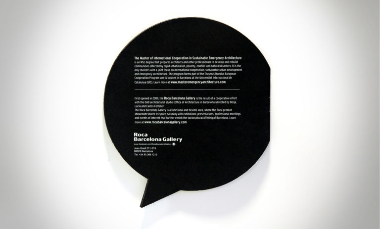 Imagen para ciclo de conferencias en el Roca Gallery de Barcelona