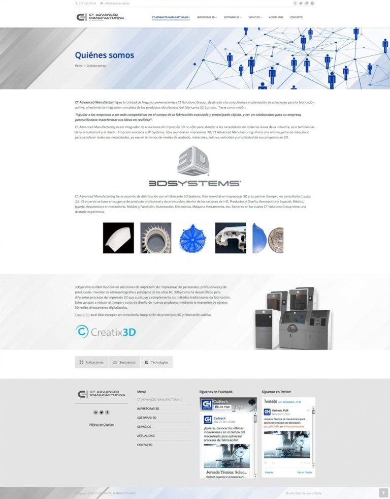 Desarrollo web de impresoras 3D
